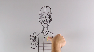 Whiteboard Video for Emerson Process Management Smart Meter Verification Carbon8 Agency and Worker Studio Animation